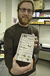 Scott Clem exhibits some of his hover fly collection.