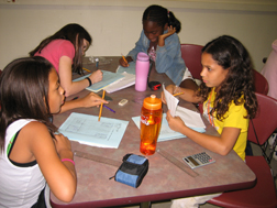 Girls participating in G.A.M.E.S. activities.