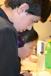 Michael Rivkin and Angela Lee compete in the Water Quality event