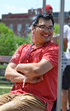 MechSE Assistant Professor and ME370 instructor Seok Kim laughs in the face of adversity