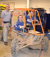 Mike Philpott, Paul Hummon, & Katie Birkel with the Baja SAE