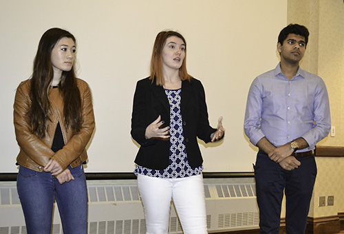 Illinois Engineering for Social Justice Scholars from left to right: Kendall Furbee, Cheyenne Syring, Mrinaal Mittal