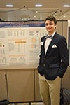 Undergrad presents his research during the undergraduate research week symposium